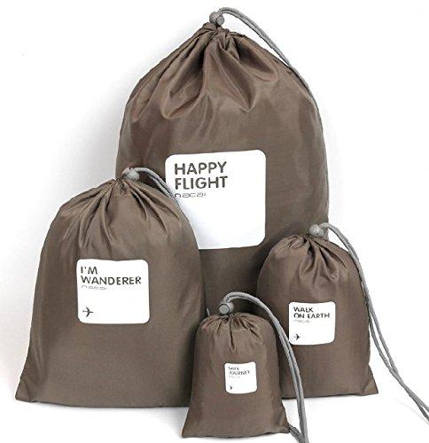 uuouu 4in 1Universal Wasserdicht wasserabweisend Aufbewahrungstasche Kordelzug Tasche für Home Schule Reise Outdoor