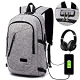 Anti-theft Business Laptop Backpack With USB Charge Port ,Lightweight Outdoor Waterproof...