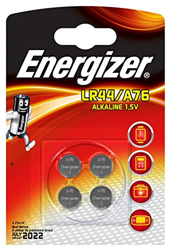 Energizer 948371Lot de 4 piles LR44/A76