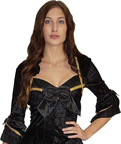 Barock Kostüm Prinzessin Kleid Damen - schwarz und sexy, Größe:40/42