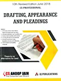 #8: Aj Publication's Drafting Appearance and Pleadings for CS Professional June 2018 Exam by Anoop Jain