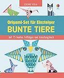 Origami-Set für Einsteiger: Bunte Tiere: mit 75 bunten Faltbögen und Anleitungsbuch