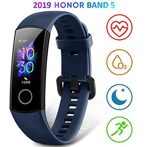 Imagen de honor band 5 smartwatch pulsera de actividad con pulsómetro mujer hombre, monitor de actividad deportiva, ritmo cardíaco, impermeable ip68, reloj fitness, con podómetro