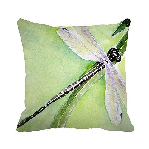 Okoukiu tela di cotone Dragonfly Art Greensquare decorativo tiro federa