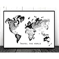 TinyTami - Aquarell Kunstdruck - Weltkarte