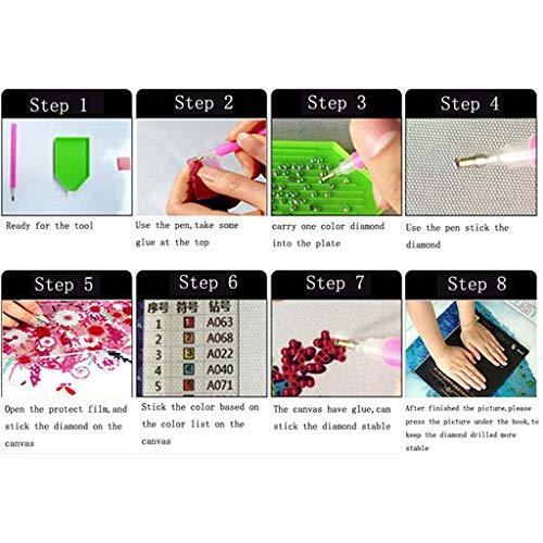 QinMM DIY 5D Haustier Landschaft Diamant Malerei, Strass Diamant Stickerei Gemälde Bilder Kunsthandwerk für Hauptwanddekor, Vollbohrer