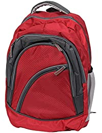 "FIPPLE Canvas 11 Liters Red & Grey 14"" Laptop Backpack"