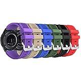 MoKo Bracelet en Silicone Souple [6-Pack] pour Samsung Galaxy Watch 46mm / Gear S3...