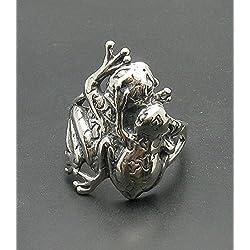 Anillo de plata esterlina 925 R000779 rana
