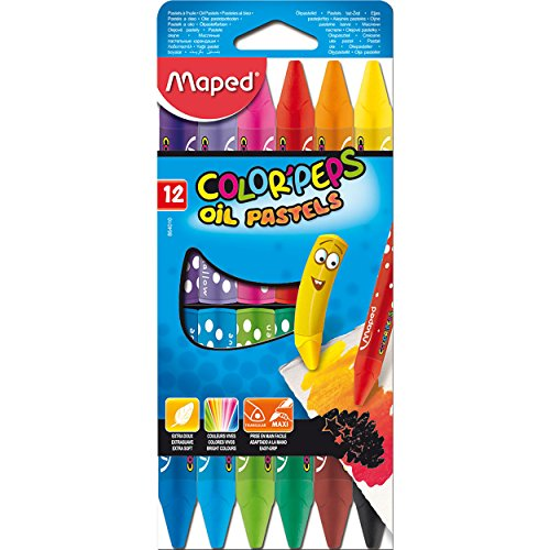 Maped M864010 - Malstifte Color Peps Oil Pastels, 12er Packung