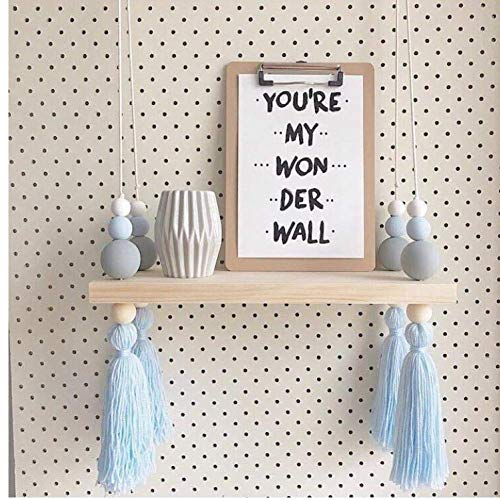 Ouken Nordic Stil Bead Bunte Holz-Regale mit Quaste-Kind-Raum für Kinder Bekleidungsgeschäft Display-Ständer Wand Schindel Decor -