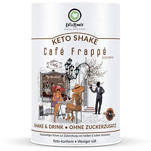 KetoMeals Keto Shake Café Frappé • Eiskaffee • Latte | 25 Portionen, 1er Pack (450g) | Ketogene & Low-Carb Ernährung -