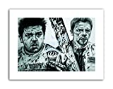 SHAUN OF THE DEAD SIMON PEGG NICK FROST W MAGUIRE Canvas art Prints