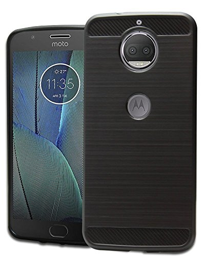 Cedo Rugged Armour TPU Shock Proof Back Cover Case for Moto G5S Plus (Black)