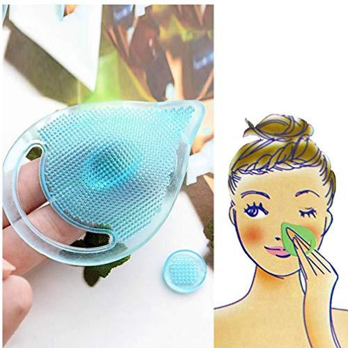 PiniceCore Neues Gesicht Makeup Mitesser Waschen Entferner Gesichtsreinigung Pad Gesichts-Peeling Pinsel Spa-Haut-Peeling Cleanser Werkzeug Badschmukset