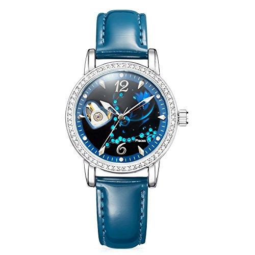 Time w80050l.12a - orologio da polso da donna, cinturino in pelle colore blu scuro