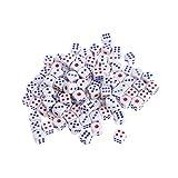 Manyo100pcs Standard Würfel, leicht und tragbar, perfekt für Brettspiel, Club und Bar Spiel Tool, Familienspiel, Math Teaching.