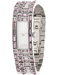 Esprit - EL900282006 - Montre Femme - Quartz Analogique - Bracelet Cuir Rose