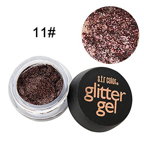 PinkLu Glitter Pailletten-Lidschatten,Mehrzweck-Shimmer-Glitter-Lidschatten-Pulver-Palette Matte Lidschatten-Kosmetik,25g