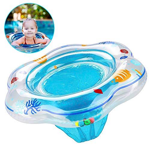 ShineTool Baby Schwimmring aufblasbare Aquarienmuster Schwimmen Seat Ring Doppel-Airbag-Sicherheit Sitze Baby Aid Float für 3-36 Monate Kleinkinder Kleinkinder Kinder (Blau)