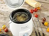 Rosenstein & Söhne Mini Tisch Fritteuse mit Fondue-Set, 0,5 Liter, 600 Watt -
