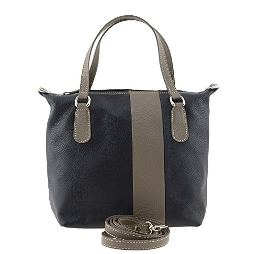 Borsa in pelle donna NEGRO-TAUPE
