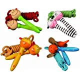 Girls Animal Wooden Handles Skipping / Jumping Rope - Kids Perfect Ideal Christmas Stocking Filler Gift Present