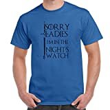 Herren Lustige Sprüche coole fun T Shirts-I'M In The Nights Watch-Game of Thrones tshirt-königsblau-X-Large