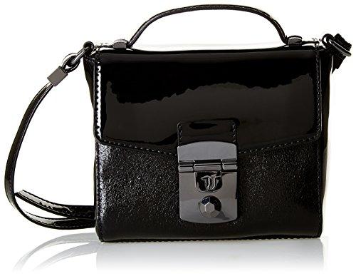 Trussardi Jeans , Sac bandoulière pour femme Noir noir 17 cm