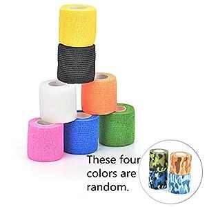 Elastische Bandage, Kinesiologie Tape in 8 Farben Wasserdicht Verbandsmaterial Baumwolle Selbstklebender Verband für Physiotherapie Sport Freizeit und Medizin
