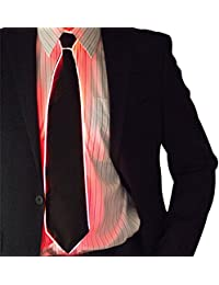 Bloomma Light Up Tie, Glowing EL Tie LED Neck Tie Party DJ Bar Club Decoración
