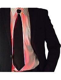 Bloomma Light Up Tie, Glowing EL Tie LED Neck Tie Party DJ Bar Club Decoración