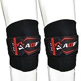 AQF Kniepackungen Gewichtheber-Bandage Heavy Duty Elastische Stützgurte Schutzgurte Powerlifting,...