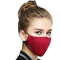 Preisvergleich für 1Stück Baumwolle Mund Maske Anti-Staub Reinigungstuch Maske Atemschutzmaske mit 6Filter Tuch Anti Staub Schwarz...