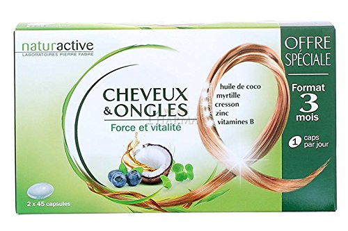 Naturactive Cheveux et Ongles Lot de 2 x 45 Capsules