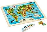 Eichhorn 100005450 - Steckpuzzle, Weltkarte