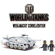 ✠ World of Tanks® 3001 - Bausteine Panzer Jagdpanzer 38 Hetzer inkl. custom Wehrmacht Soldaten aus original Lego© Teilen ✠