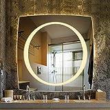 Smart LED-Badezimmerspiegel, an der Wand montierter Kosmetikspiegel, klares Bild, Antibeschlag Einfach zu säubern WZP