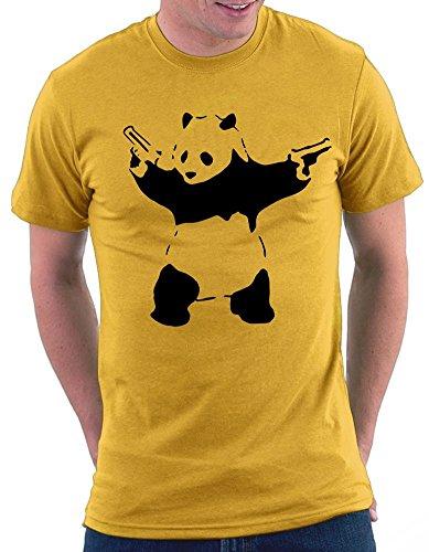 Banksy Panda T-shirt Gelb