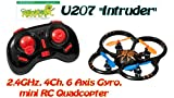 #10: Catterpillar 2.4 Ghz 4 Channel 6 Axis Gyro Intruder Quadcopter with Led Lights