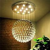 Modernen minimalistischen Kronleuchter Kristall Wendeltreppe, die Schlafzimmer Duplex Wärme Bekleidungsgeschäft Korridor Kronleuchter Lounge Restaurant, 70 * 70 * 90 cm (4W / LED * 9)