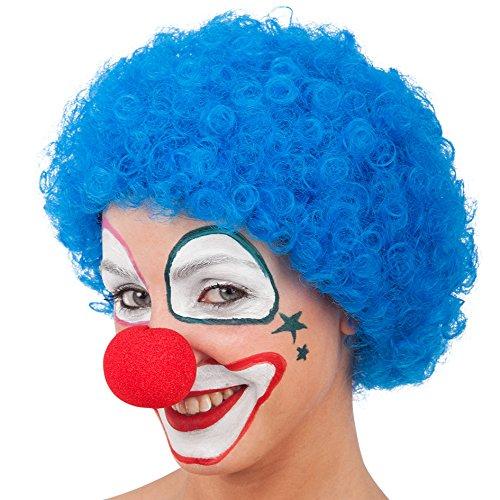 Blaue Clowns-Perücke für Kinder