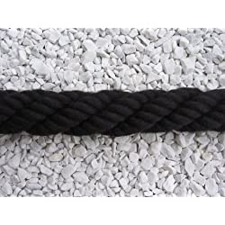HTF corde pour rampe d'escaliers beige 40 mm-rambarde corde couleur : noir