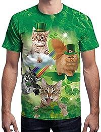 Zolimx Mode Herren T-Shirt St. Patrick s Day Clover Printed Kurzarm  O-Ausschnitt 33a8b1e135