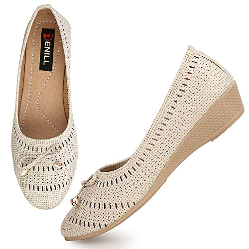 Denill Latest Collection, Comfortable & Fashionable Bellies for Women's and Girl's (4 UK/India (37EU), Cream)