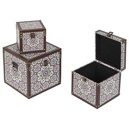 Set de 3 cajas 25x25x25 1 diseño Habita Home