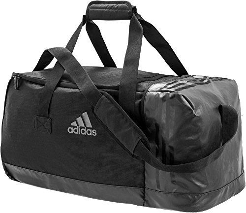 adidas Sporttasche 3-Streifen Team,Schwarz( Black/Visgre), M (66 x 29 x 27 cm 52 Liter), AJ9993