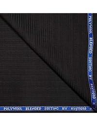 b8ffd8428 Raymond 45% Merino Wool Olive Green Self Stripes Unstitched Blazer Fabric - 2.50  metres