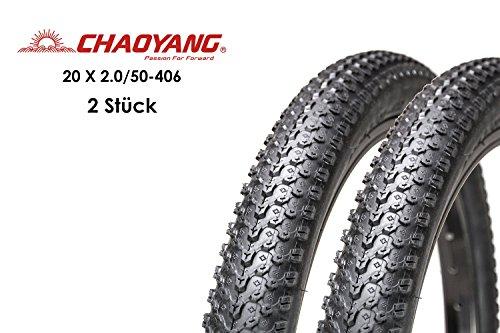 "2 Stück 20"" Zoll Fahrrad Reifen 20 x 2.0 BMX MTB 50-406 Mantel Decke Bike Tire"