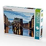CALVENDO Puzzle Speicherstadt Hamburg 1000 Teile Lege-Größe 64 x 48 cm Foto-Puzzle Bild von Hans-Joachim Loh (CALVENDO Orte)